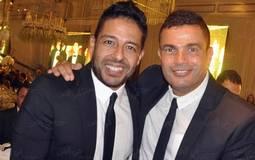 عمرو دياب ومحمد حماقي في حفل الزفاف