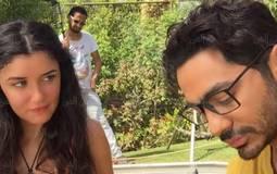"""تامر حسني وغادة عادل في كواليس فيلم """"أهواك"""""""