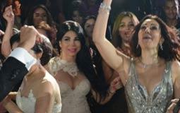 بالصور- رقصة وفاء عامر وزوجها في حفل زفاف شقيقتها أيتن عامر