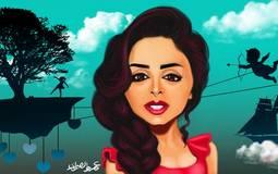 """رسمة تخيلية لغلاف ألبوم """"أحلام بريئة"""" l بريشة: عمرو الصاوي"""