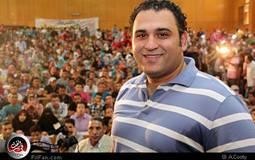 بالصور والفيديو: تكريم أكرم حسني في جامعة عين شمس