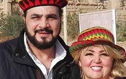 مها أحمد و زوجها مجدي كامل في جولة سياحية.
