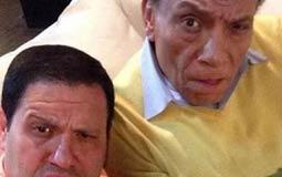 """نشر الممثل إدوارد صورة Selfie تعود لفترة تصوير مسلسل """"صاحب السعادة"""" مع الفنان عادل إمام، وظهرا بشكل في الصورة بشكل مضحك."""