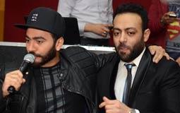 تامر عاشور وتامر حسني في زفاف أحمد عبد السلام