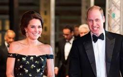 """بالصور- الأمير ويليام وكيت ميدلتون يحضران حفل جوائز """"بافتا"""""""