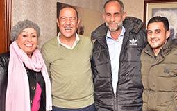 """أشرف عبدالباقي يستقبل هالة فاخر و """"عم صلاح"""" في مسر"""