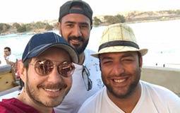 أحمد زاهر برفقة أحمد حسام ميدو في أسوان