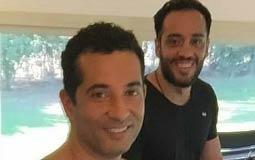 """عمرو سعد  نشر الممثل عمرو سعد صورة له من داخل صالة الألعاب الرياضية """"الجيمانزيوم"""" وظهر معه المطرب رامي جمال."""