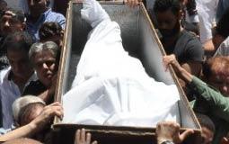 تشييع جثمان الراحل سامي العدل من مسجد آل رشدان