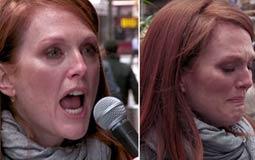بالفيديو- جوليان مور تسُب وتصرخ وتبكي في الشارع من أجل الحصول على بقشيش