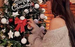ميرهان حسين تحتفل بالكريسماس