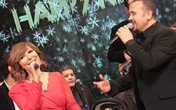 لميس الحديدي تحتفل بعام 2018 مع هشام عباس