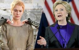 """هيلاري كلينتون تشبّه نفسها بـ """"سيرسي لانستر"""" في Game of Thrones"""