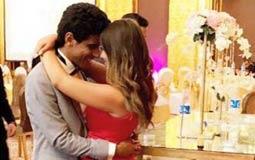 صورة- رومانسية حمدي المرغني لإسراء عبد الفتاح في عيد الحب