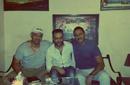 تامر عاشور يتوسط خالد تاج وهاني محروس في الأستوديو