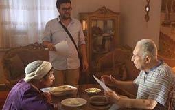 عبد الرحمن أبو زهرة ورجاء حسين والمخرج أحمد نادر