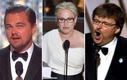 بالفيديو- تعرف على أبرز الرسائل السياسية في حفلات الأوسكار على مدار السنوات