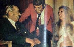 """نيللي وسمير صبري برفقة يوسف وهبي في أول ليالي رمضان في برنامج """"المشوار"""" عام 1975"""