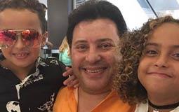 هانى شاكر مع  أحفاده مجدي و ماليكة في بيروت