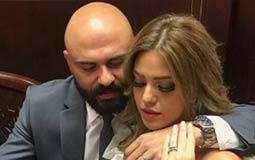 أحمد صلاح حسني وزوجته إسراء جلال