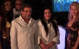 بالصور- خالد يوسف يساند زوجته في أحدث عروضها للأزياء