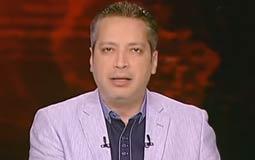 """بالفيديو- تامر أمين لعزة الحناوي: """"ما ينفعش مذيعة وزنها 150 كيلو تطلع على الشاشة"""""""