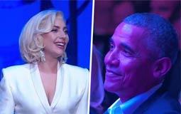 بالفيديو - بكاء أوباما وكلينتون بعد أداء ليدي جاجا لهذه الأغنية