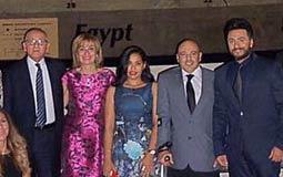تكريم تامر حسني في السفارة المصرية بأمريكا