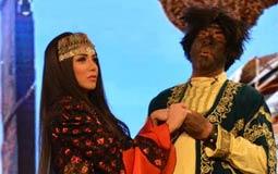 """بالصور- سارة سلامة ومحمد سعد يقدمان عنتر وعبلة في """"وش السعد"""""""