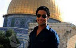 أحمد جمال نشر صوره أثناء تواجده بالمسجد الأقصى على صفحته الرسمية بموقع Facebook.