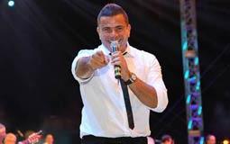 السوبر ستار عمرو دياب أثناء إحيائه للحفل بالأردن