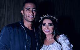روجينا ومحمد رمضان في كواليس العرض