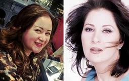 صورة - مي نور الشريف مع والدتها بوسي في أحدث ظهور لها