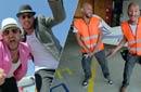 """بالفيديو- شادي ألفونس وخالد منصور يرعبان النجوم من القفز بالمظلات في """"التجربة الخفية"""""""