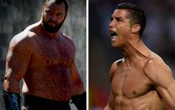"""بالفيديو- """"جبل"""" Game Of Thrones يتوعد كريستيانو رونالدو لو سجل هدفا في منتخب بلاده"""