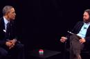 """بالفيديو: أوباما يتفوق على بطل """"Hangover"""" زاك جاليفياناكيس في إلقاء النكات"""
