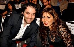 نجلاء بدر وشريف رمزي في حفل ختام مهرجان المركز الكاثوليكي للسينما