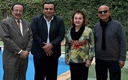 """وفد من """"شرم الشيخ السينمائي""""  في زيارة ليلى طاهر"""