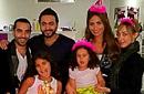 بالصور: تامر حسني وبسمة بو سيل يشاركان مي سليم عيد ميلاد ابنتها