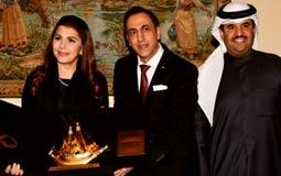 بالصور والفيديو- تكريم ماجدة الرومي بالسفارة اللبنانية في الكويت