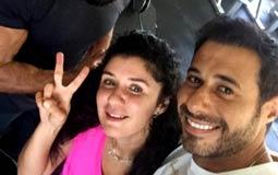 """نشر الممثل أحمد السعدني صورة من داخل صالة الألعاب الرياضية """"الجيمانزيوم"""" وظهر فيها معه الممثلة غادة عادل ويبدو أنهما يتدربان في نفس المكان."""