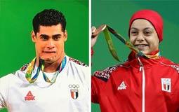 """هكذا احتفل مشاهير الفن  بالميداليتين البرونزيتين لمصر فى أولمبياد """"ريو 2016"""""""