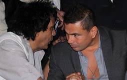 عمرو دياب ومحمد منير على مائدة واحدة في خطوبة نجل خالد صلاح