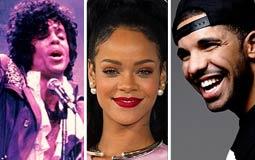 """أفضل 5 أغاني عالمية بتصنيف """"بيلبورد"""".. ريانا تخرج من التصنيف ودريك يصعد مرتبة وبرينس ينضم إلى اللائحة"""