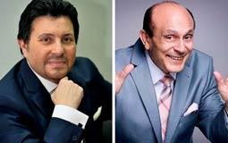 """صورة - هاني شاكر وزوجته برفقة محمد صبحي في """"غزل البنات"""""""