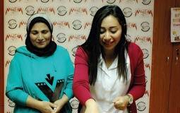 بالصور- ريتشارد الحاج يحتفل بعيد ميلاد شيماء الشايب بحضور والدتها فاطمة عيد
