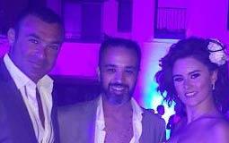 إيمي سالم ورشا مهدي وزوجها رجل الأعمال محمد ياسين