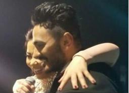 """صورة - هكذا هنأت شيرين صديقها تامر حسني بألبومه الجديد """"عيش بشوقك"""""""