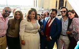 مصطفى خاطر وزوجته وويزو وزوجها وندى السبكي