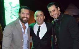 أحمد السعدني وأحمد السقا وعمرو يوسف